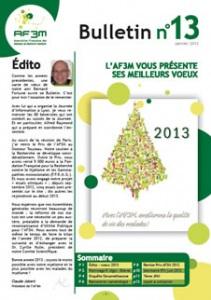 Bulletin AF3M n°13 janvier 2013