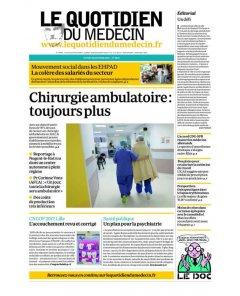 Le Quotidien du médecin (*.fr et niooz.fr) - 29/01/18
