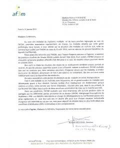 Lettre à Mme La Ministre