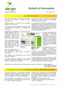 Bulletin AF3M n°5 mars 2010