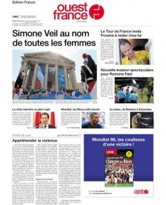 Ouest France - 2 juillet 2018
