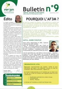 Bulletin AF3M n°9 septembre 2011