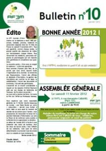 Bulletin AF3M n°10 janvier 2012