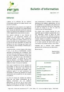 Bulletin AF3M n° 7 mars 2011