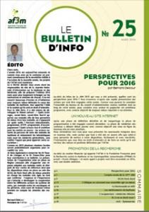 Bulletin AF3M n°25 mars 2016