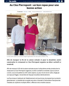 Var-matin Draguignan - 02 septembre 2019