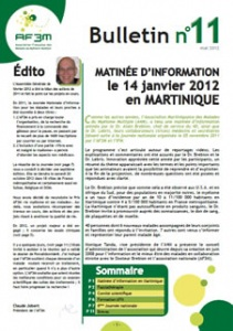 Bulletin AF3M n°11 mai 2012