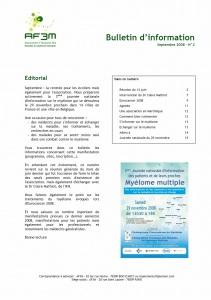 Bulletin AF3M n°2 septembre 2008